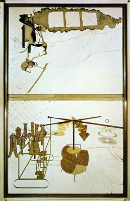Marcel Duchamp. O grande vidro ou A noiva despida por seus celibatários mesmo, 1915-1923